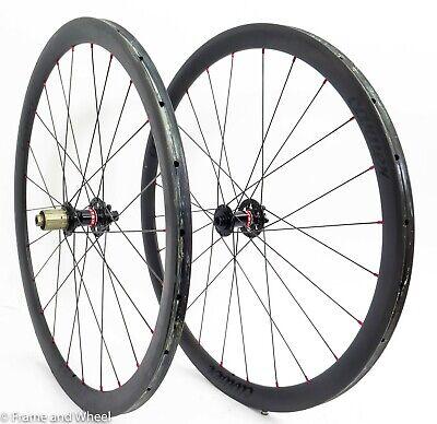Carver 38 carbon tubular wheelset Novatec Shimano 11s 12x142 6-bolt thru axle