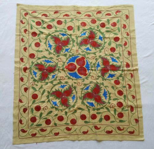 Wall Hanging Best Gift Uzbek Hand Embroidery Vintage Suzani SALE WAS $239.00