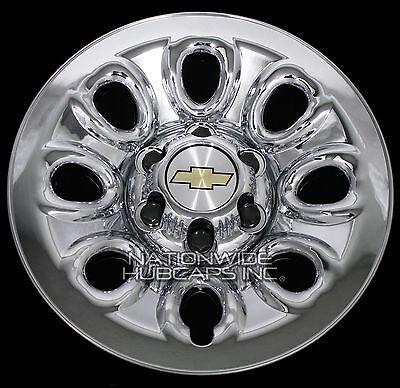 """Set of 4 Chevy 1500 6 Lug 17"""" Chrome Wheel Skins Rim Simulators Hub Caps Covers"""