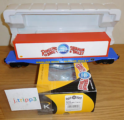 K-LINE LIONEL 6-21470 CIRCUS RINGLING BROS. FLAT CAR CONTAINER O SCALE TOY TRAIN