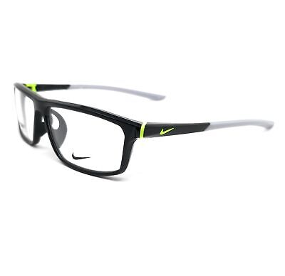 NIKE Eyeglasses 7083UF 001 Black-Volt Rectangle Men 56x13x140