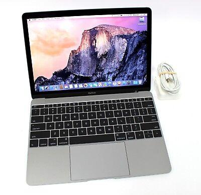 """Apple MacBook Early 2015 12"""" Intel M 1.1GHz 8GB 256GB MF855LL OS X 10.10.5 Gray"""