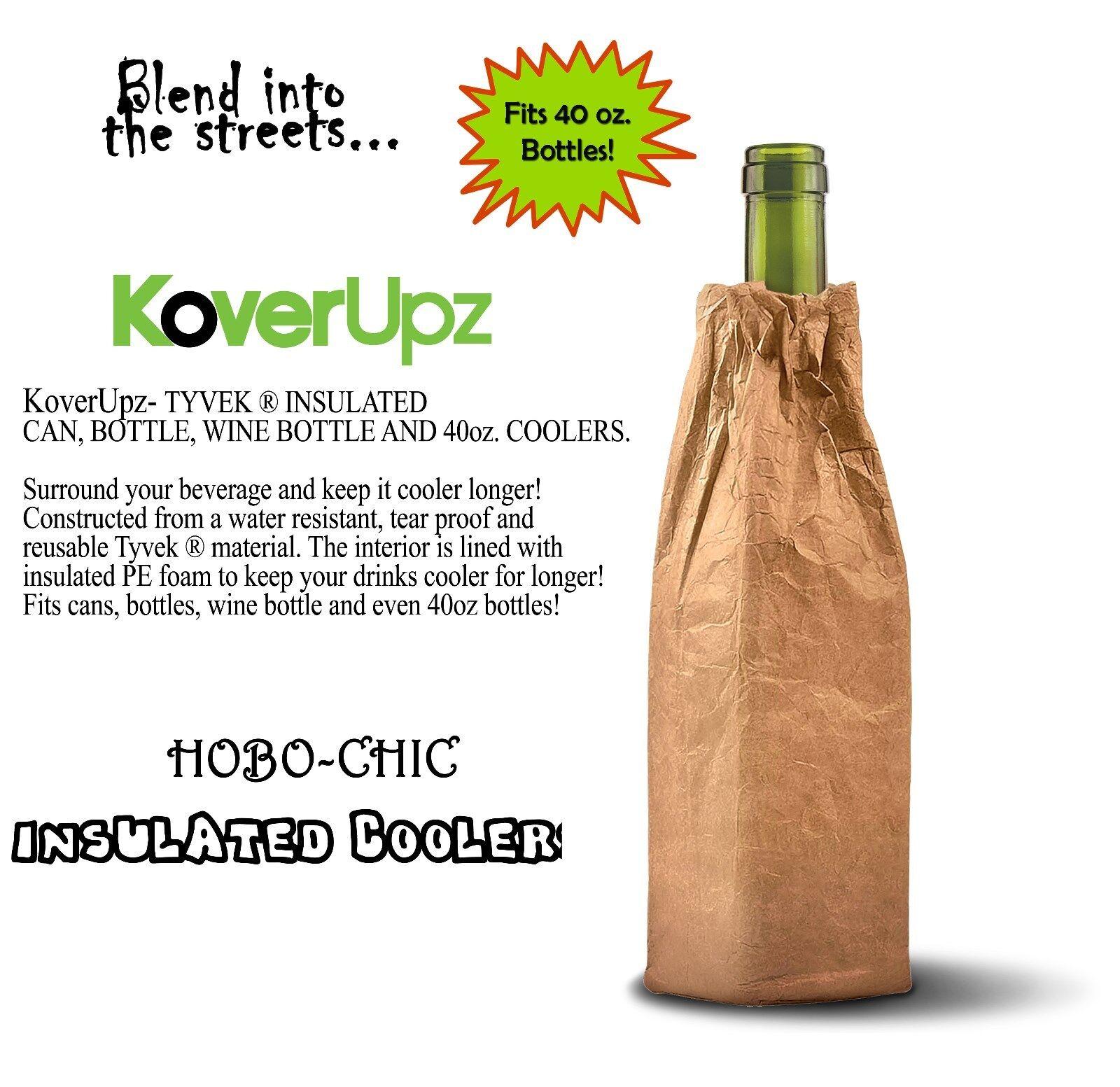 Insulated Wine Bottle Cooler Hobo Bottle Coolie Brown Bag Fi