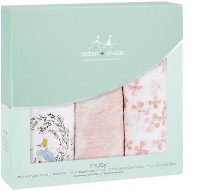 Aden + Anais CLASSIC MUSY 3 PACK BIRDSONG Baby Feeding Bibs Burp Cloths BN