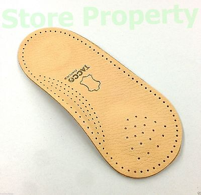 TACCO 676 Nova 3/4 Orthotic Arch Support Leather Insoles Dre