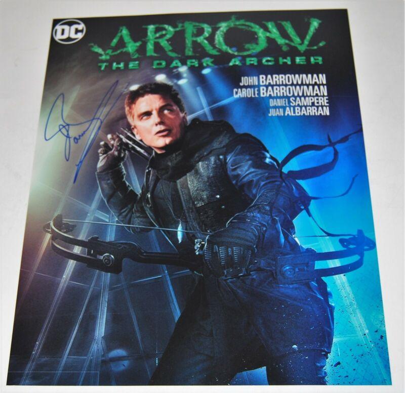 JOHN BARROWMAN signed (TORCHWOOD ARROW) 11X14 photo *PROOF* Malcolm W/COA #3