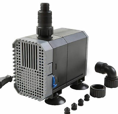 2000l/h 35W Filterpumpe Energiespar Eco- Teichpumpe Pumpe Bachlaufpumpe