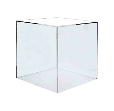 16 5 Sided Cube Jewelry Riser Display Box Pedestal Stand In Clear Lot Of 2