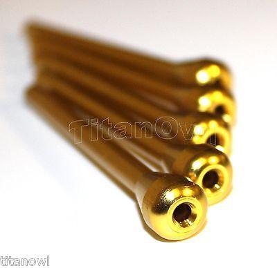 5 X Metal Nasal Straw Tube Nazal Gold Color