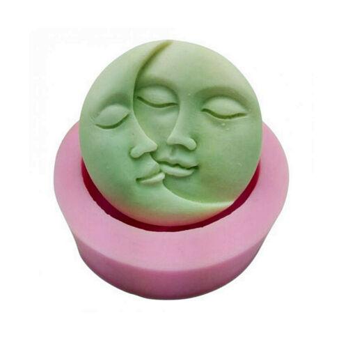 Sun and Moon Face Silicone Mold, chocolate mold, candle mold, Soap Mold ,DIY Han