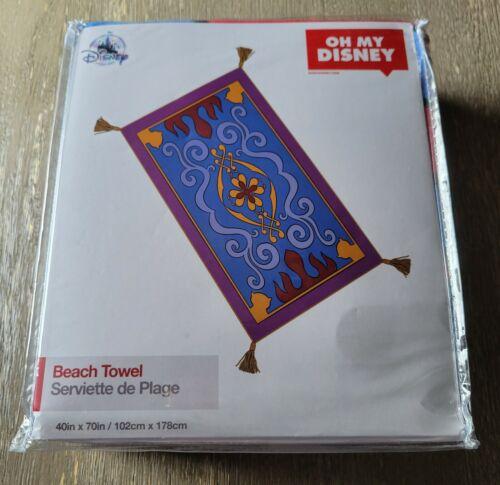 Disney Parks Oh My Disney Aladdin Magic Carpet Beach Towel *Brand New
