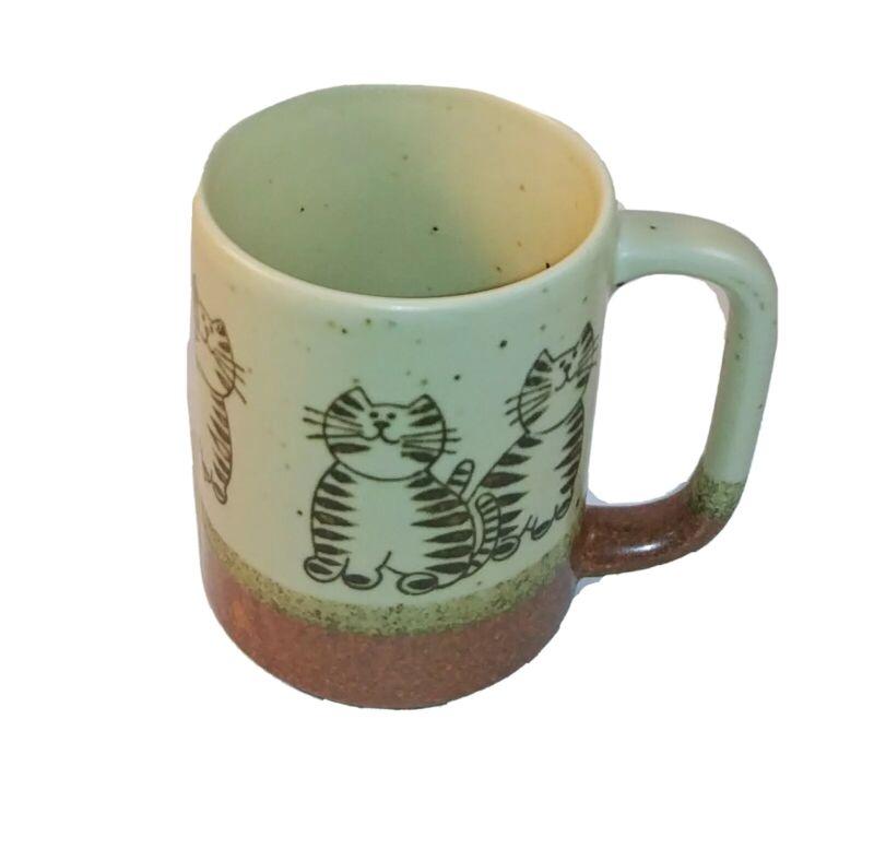 Vintage ceramic Tabby Cat mug