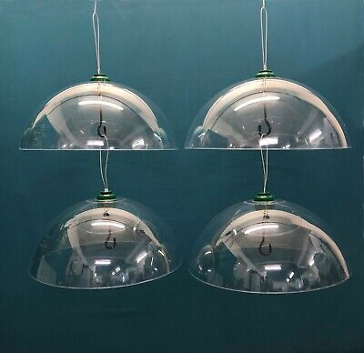 4 x Squirrel Proof Baffle Protection Wild Bird Feeders Clear Dome Hanging Guard