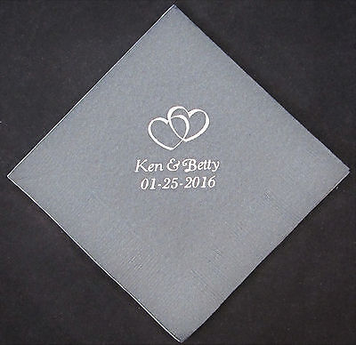 Personalized Paper Napkins (lot of 100 personalized beverage napkins baby shower bridal shower custom)