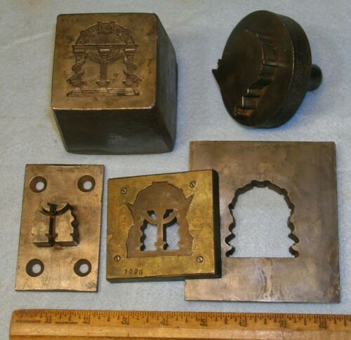1909 GMA Georgia Military Academy HAT BADGE STAMPING DIE & TRIM TOOLS *MC Lilley