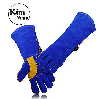 Kim Yuan 009 Heatfire Resistant Ovenfireplacebbq Cowhide Welding Gloves16in