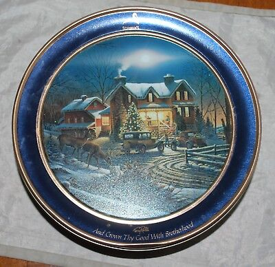 Schwans Ice Cream Tin 2011 And Crown Thy Good With Brotherhood Terry Redlin