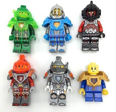 LEGO LOT OF 6 NEXO KNIGHT MINIFIGURES CASTLE UNIQUE FIGS
