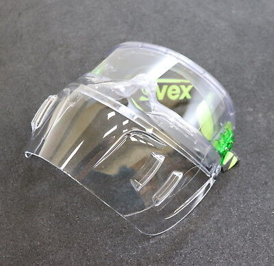 UVEX Gesichtsschutzmaske 9301555 Schutzbrille mit Mundschutz geschlossen farblos