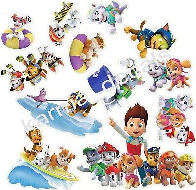 PAW PATROL 3D WALL STICKER SET decor ART KIDS Stickers ONE 14