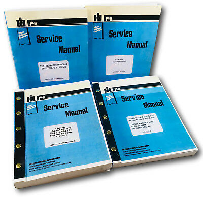 International 454 464 484 574 584 Diesel Tractor Service Manual Repair Shop Oem