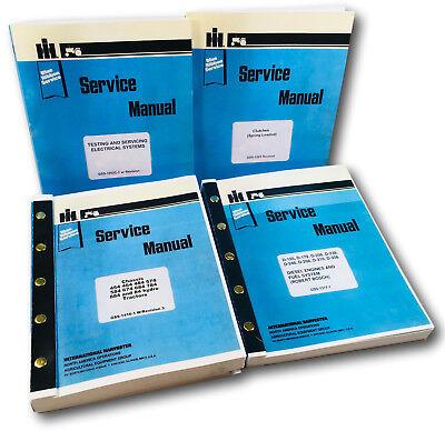 International 454 464 484 574 584 Diesel Tractor Service Manual Repair Shop Oem