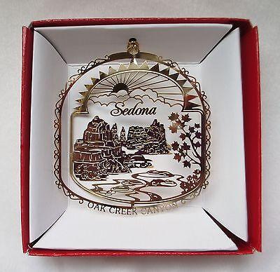 Sedona Brass Ornament Arizona Travel Souvenir Keepsake Gift