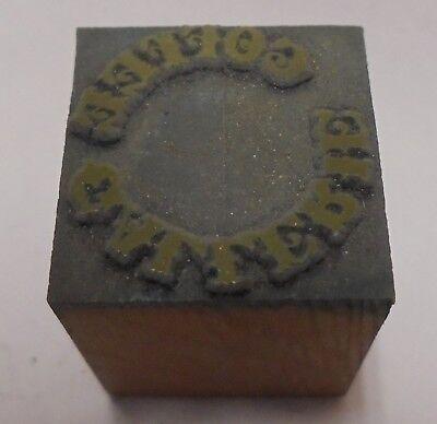 Vintage Printing Letterpress Printers Block Coffee Gallerie 34 X 34