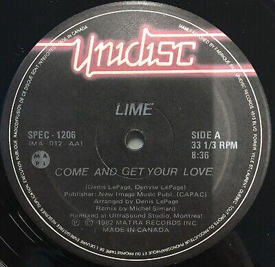 "LIME Come & Get Your Love 12"" Single EX Vinyl 1982 Hi NRG Disco"