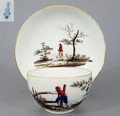 Barocke Meissen Tasse mit Untertasse, Marcolini Periode 1774-1814