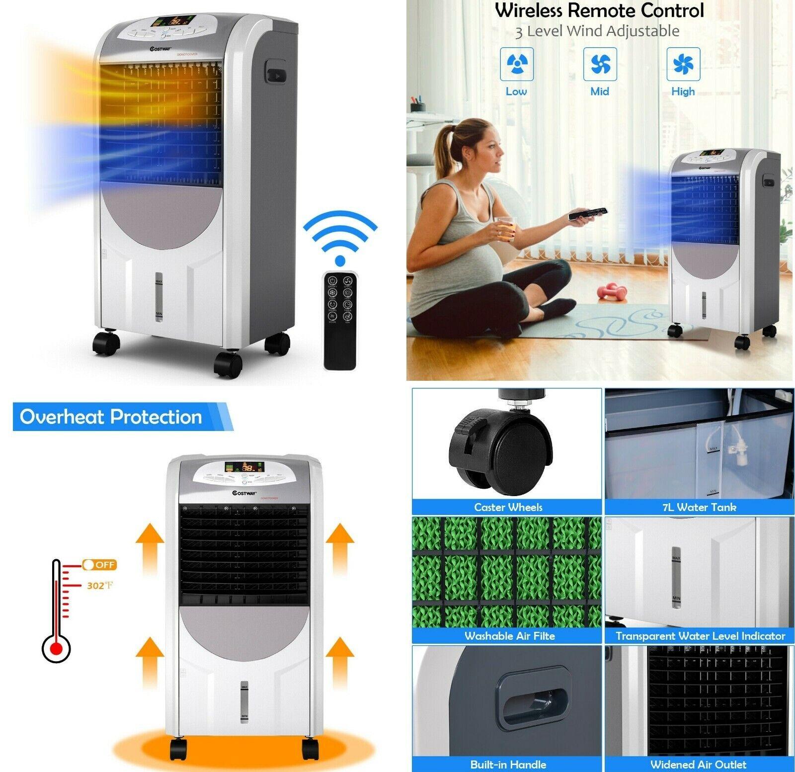 evaporative portable air conditioner cooler fan