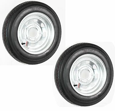 2-Pk Trailer Tire On Rim 4.80-12 480-12 4.80X12 12 LRB 5 Lug Galvanized Wheel