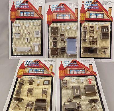 Miniature Dollhouse Furniture 1/4 1:48 Quarter Scale Lot of 5 Sets Kitchen NIP