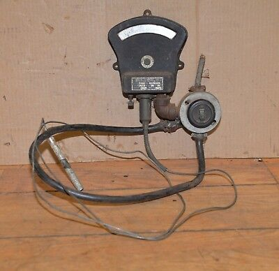 Sarco Co Vintage Temperature Gauge Switch Industrial Steam Punk Collectible