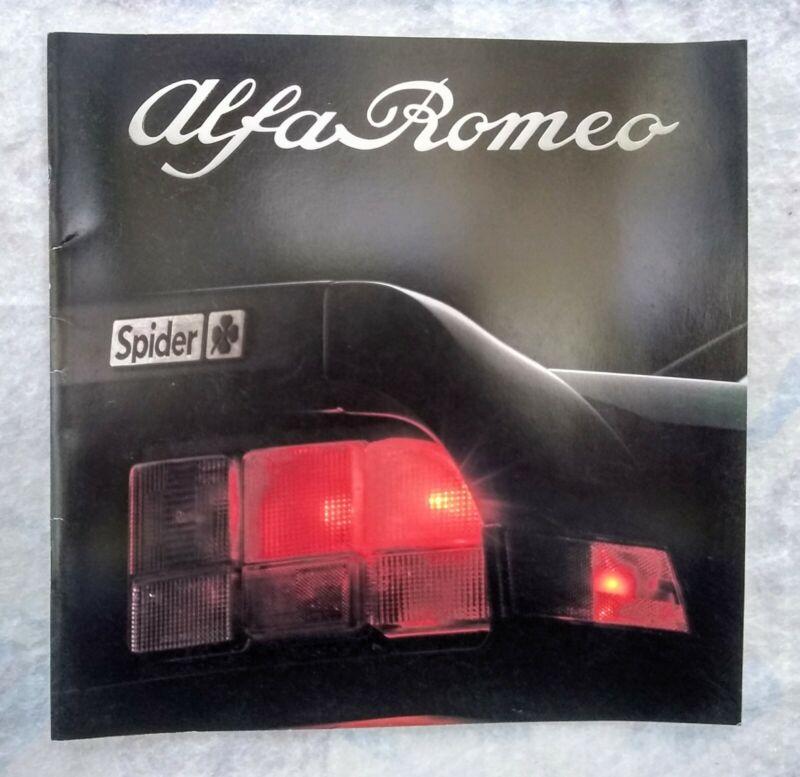 1987-1988 ALFA ROMEO DEALER SALES BROCHURE QUADRIFOGLIO SPIDER VELOCE GRADUATE