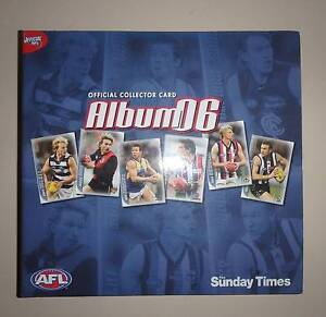 AFL Official Collector Card Album 2006 Complete  The Sunday Times Greenwood Joondalup Area Preview