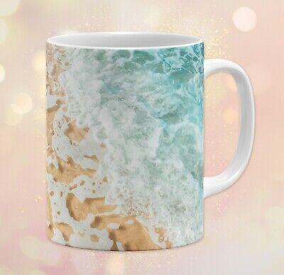11 oz Beach Top View Coffee Mug • Beach Sand Clear Water Gift Dishwasher - Mugs Clearwater