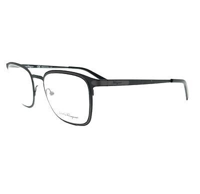 Salvatore Ferragamo Eyeglasses SF2172 002 Matte Black Rectangle Men 52x20x145