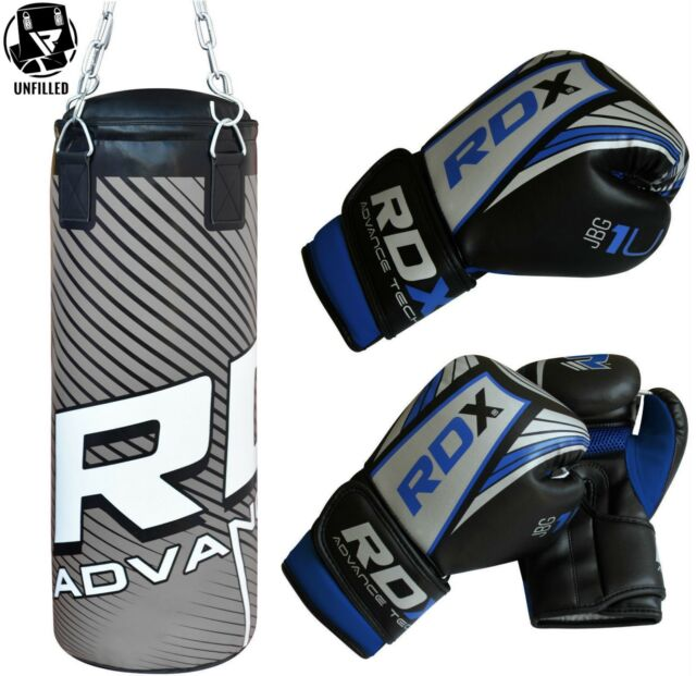 RDX Kids 2FT Unfilled Punch Bag Set Boxing Gloves,Kick Ball Junior Children AU