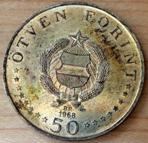 1968 Hungary 50 Forint Silver