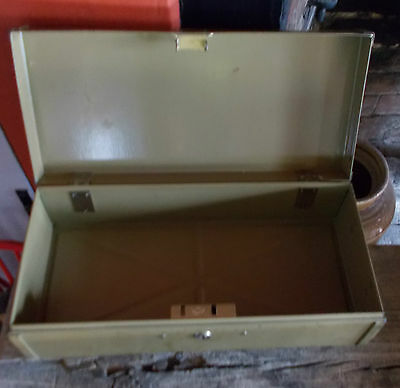 Vintage Bankers Safe Deposit Box Documents Recipes Industrial Chic No Key
