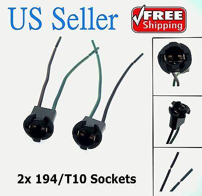 2X T10 168 194 2825 927 928 W5w Light Bulb Wire Wiring Harness Sockets