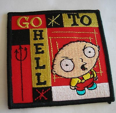 Family Guy Stewie go to hell Embroidered patch  Licensed