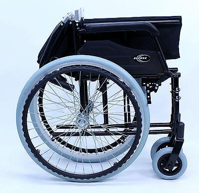 Karman Ultra Light Adult Wheelchair Transport Foldable Black LT-980-BK NEW