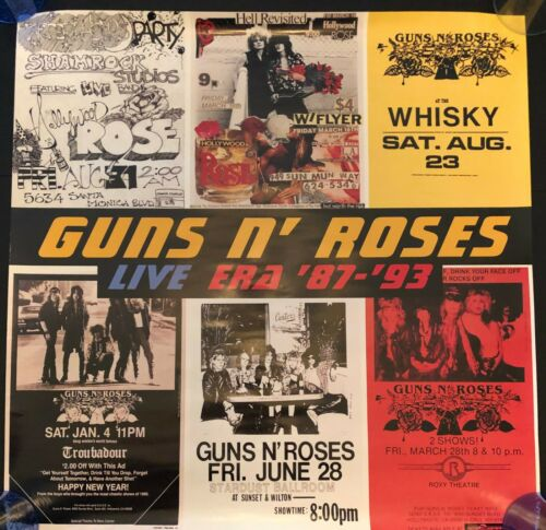 GUNS N ROSES ORIGINAL PROMO POSTER LIVE ERA 87-39 EX CONDITION 24X24 NEVER HUNG