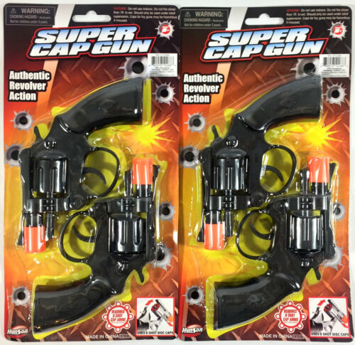 4 Super Cap Toy Gun Pistol Handgun 8 shot Snub-Nosed Revolver Military Police