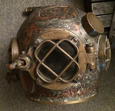 WW1 ERA US NAVY MARK-V DEEP SEA DIVING HELMET HARD HAT COMMERCIAL DIVER HELMET