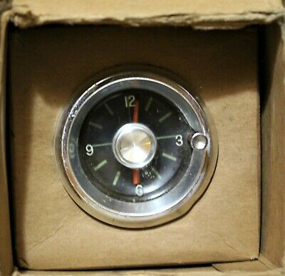1962 CHEVROLET Dashboard Clock NOS Impala Biscayne Bel Air Original Box 985348