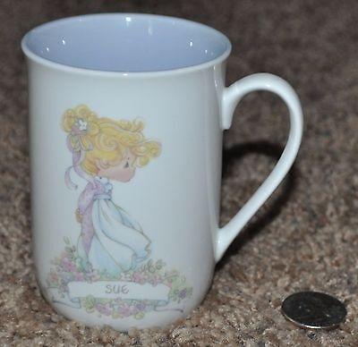 1989 Samual J Butcher, Precious Moments Enesco Personalized Name Mug Cup - Sue