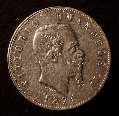 Kgr. Italien, Vittorio Emanuele II., 5 Lire 1874 M